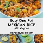 Easy One Pot Mexican Rice with Black Beans and Corn (Vegan) PIN