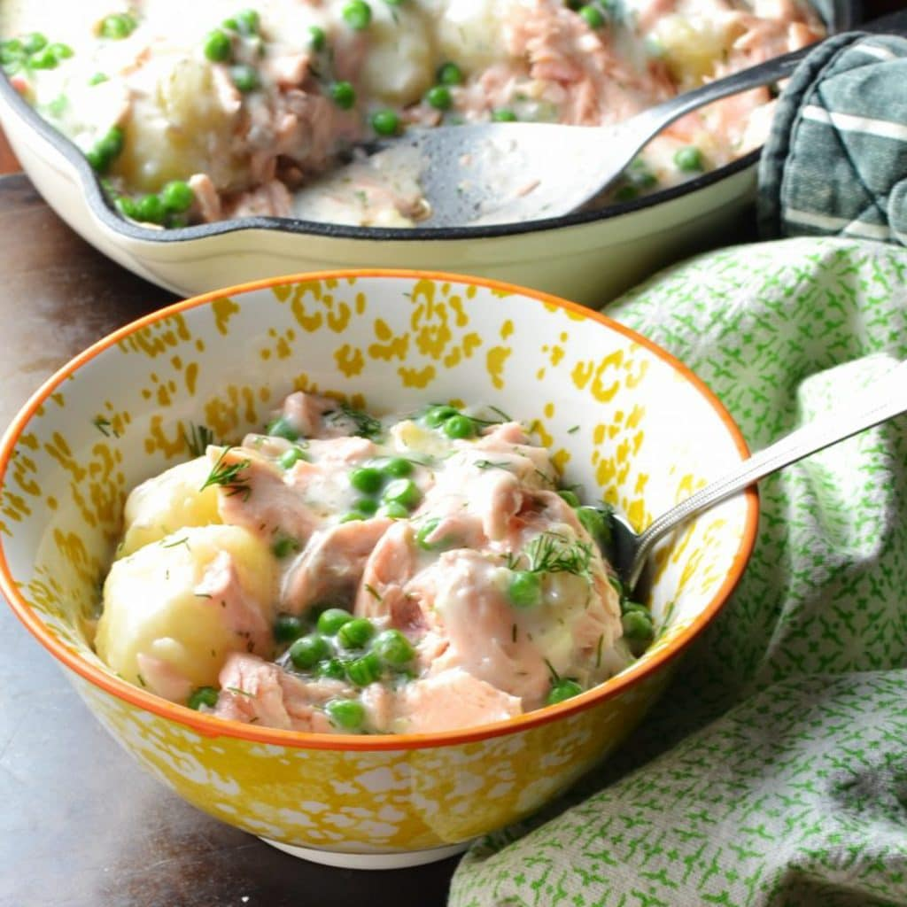 Leftover Salmon and Potato Casserole