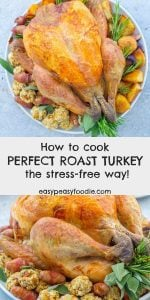Wish cooking turkey at Christmas was less stressful? Here are 20 simple tips to take the stress out of cooking your Christmas turkey... #turkey #turkeytips #christmasturkey #thanksgivingturkey #christmashacks #christmasdinner #christmaslunch #christmasfood #thanksgivingfood #christmasfoodideas #christmasvibes #christmasfeeling #stressfreechristmas #christmascountdown #easypeasyfoodie #cookblogshare #freefromgang