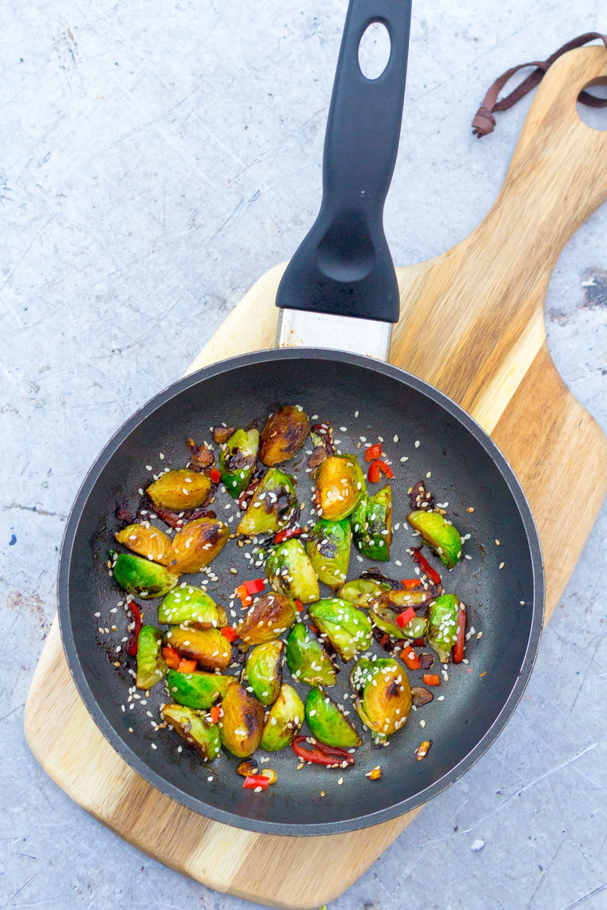 Stir Fried Sprouts with Ginger and Chilli