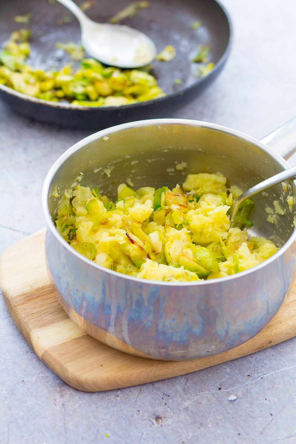 Sprout and Leek Colcannon