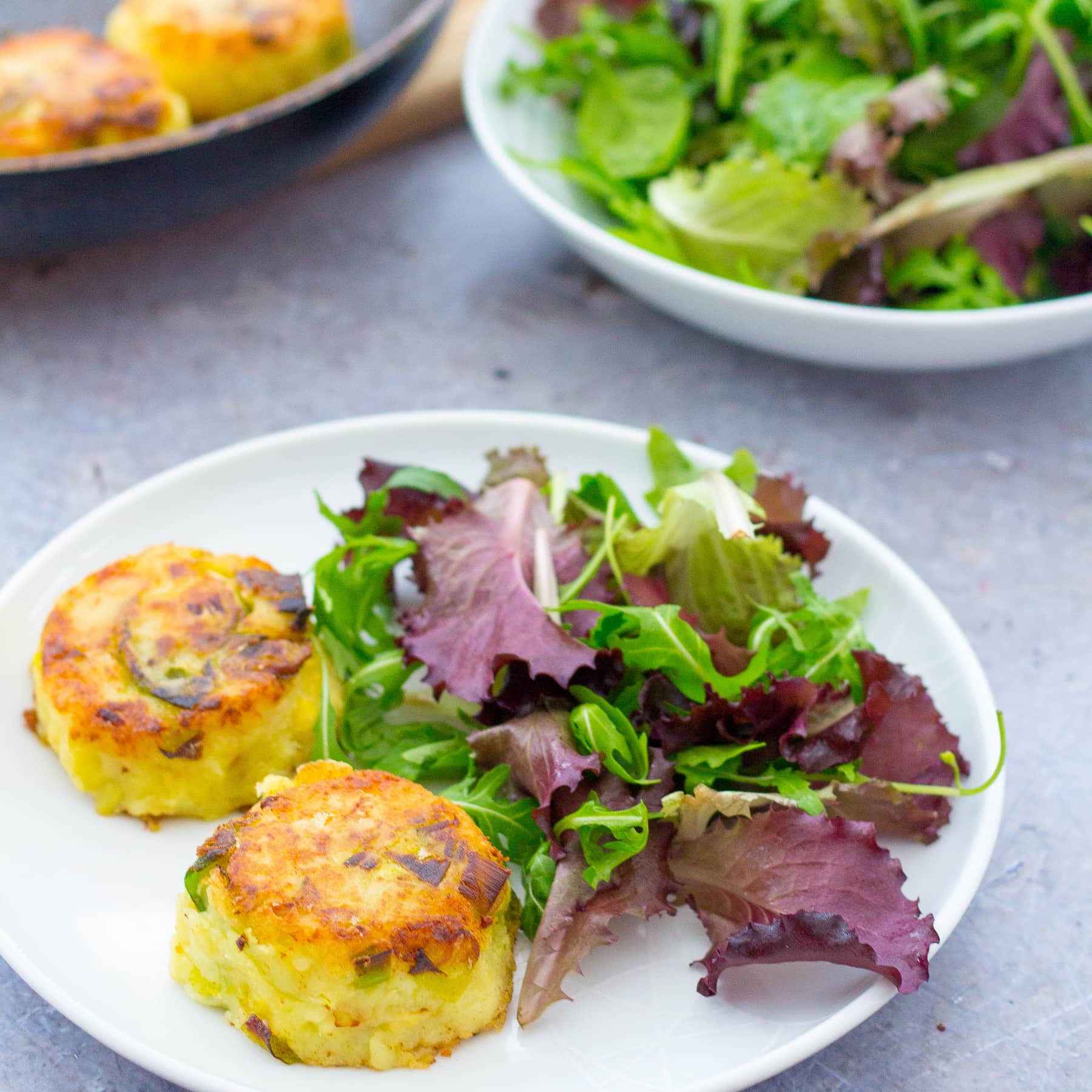 Leftover Sprouts Bubble and Squeak Cakes