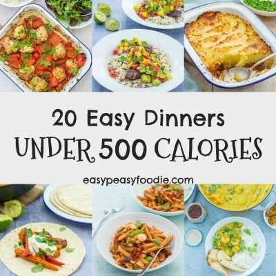 20 Easy Dinners Under 500 Calories