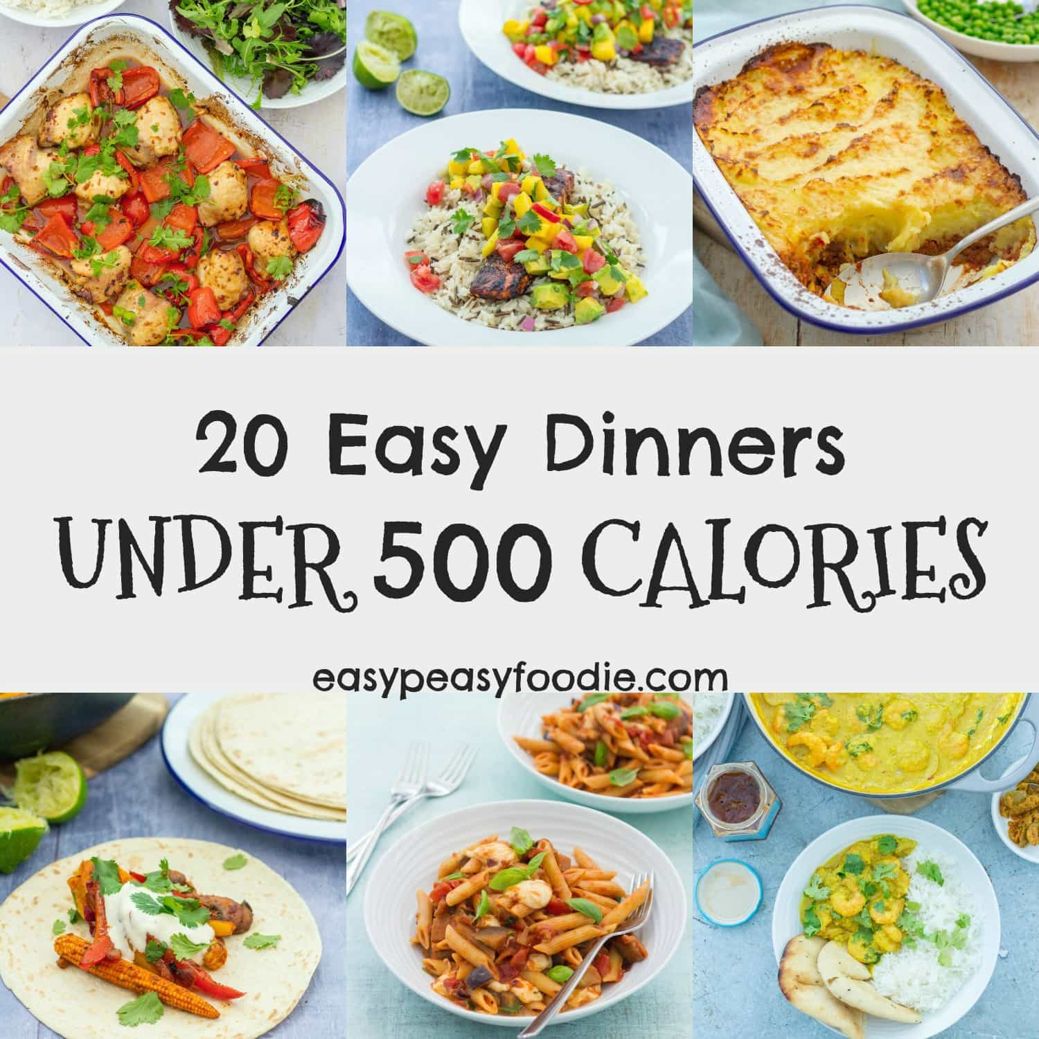 Healthy Dinner Recipes Under 3: 20 Easy Dinners Under 500 Calories