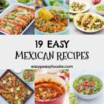 Every night can be Mexican night with these 19 Easy Mexican Recipes! Everything from fajitas to guacamole, tacos to mole and a whole lot more. These simple crowdpleasers are perfect for busy weeknights and weekend entertaining alike. #mexicanfood #mexicanrecipes #easydinners #familydinners #easyrecipes #midweekmeals #easypeasyfoodie #cookblogshare #freefromgang