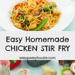 This easy Homemade Chicken Stir Fry ticks all the boxes – it's quick, easy, healthy and, of course DELICIOUS! It can be on your table in just 15 minutes and is made using my Homemade Stir Fry Sauce. #stirfry #chickenstirfry #easystirfry #homemadestrfry #stirfrysauce #easystirfrysauce #homemadestirfrysauce #soysauce #sesameoil #amoy #sharwoods #easydinners #familydinners #midweekmeals #easymeals #easypeasyfoodie #cookblogshare