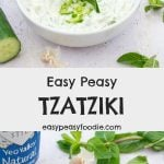 Quick, easy and packed full of flavour – you are going to love my Easy Peasy Tzatziki! This delicious Greek inspired dip is perfect for serving alongside crudités and warm strips of pitta, on top of burgers, inside a wrap or with kebabs… #tzatziki #dip #tzatzikidip #yogurtdip #garlicdip #cucumberdip #mintdip #yogurt #yeogurt #cucumber #mint #greek #greekyogurt #yeovalley #yeovalleygreekyogurt #easydips #easypartyfood #easyentertaining #easypeasyfoodie #cookblogshare