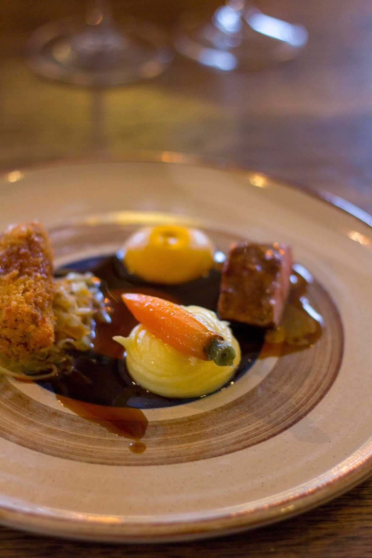 4 course tasting menu showcasing Welsh lamb at the award-winning Beach House Restaurant