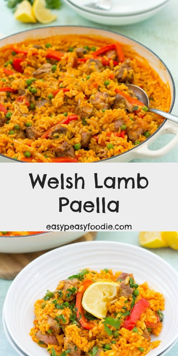 Who says paella has to be made with chicken or seafood? Shake up your midweek meals routine with this quick and easy WELSH LAMB Paella! [AD] #lamb #welshlamb #lovewelshlamb #pgiwelshlamb #lambpaella #paella #easydinners #familydinners #midweekmeals #easypeasyfoodie #cookblogshare