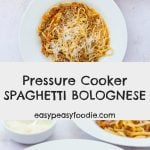 Want that slow cooked spaghetti bolognese taste but in a fraction of the time? Then you need to try my Pressure Cooker Spaghetti Bolognese – gorgeous depth of flavour and melt in the mouth texture… but done in just 30 minutes! #bolognese #spaghettibolognese #bolognesesauce #pressurecooker #pressurecooking #prestige #pressurecookerbolognese #easydinners #easymeals #familydinners #midweekmeals #dinnertonight #easypeasyfoodie #cookblogshare