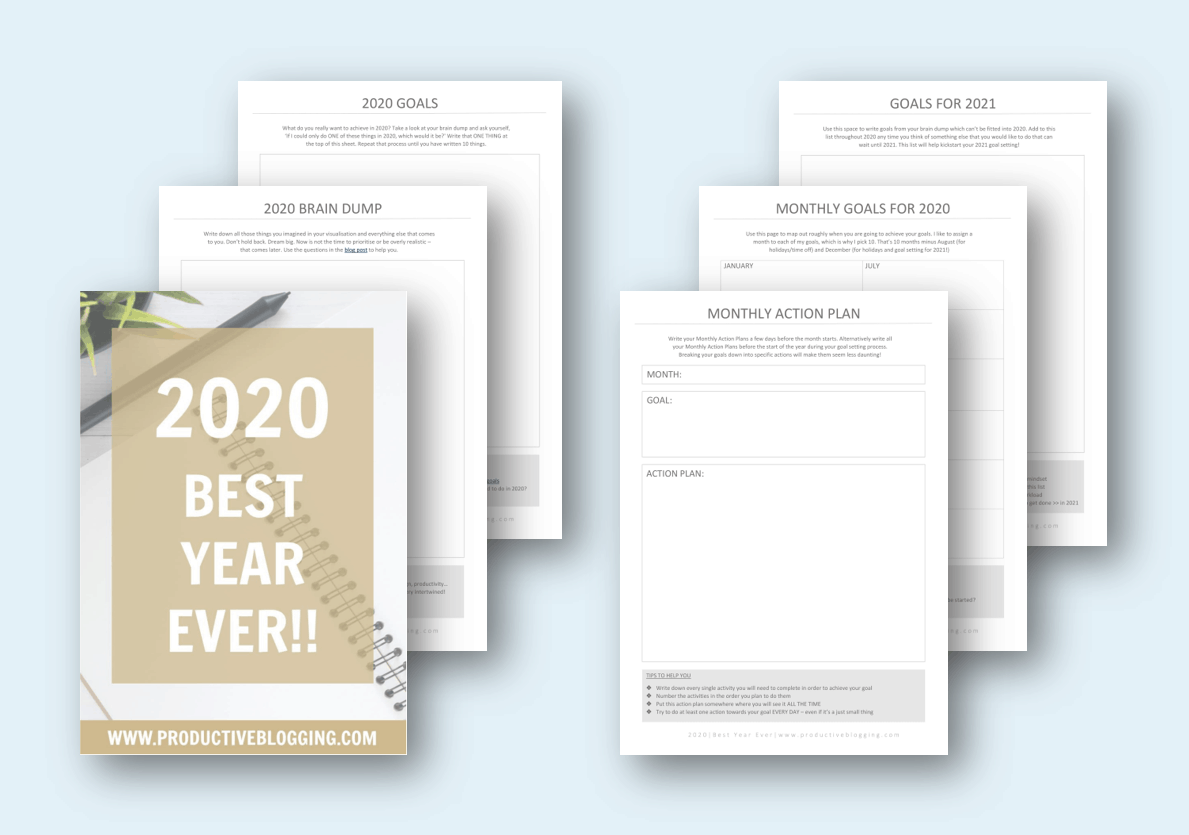 2020 BEST YEAR EVER [Free goal setting worksheets for bloggers]