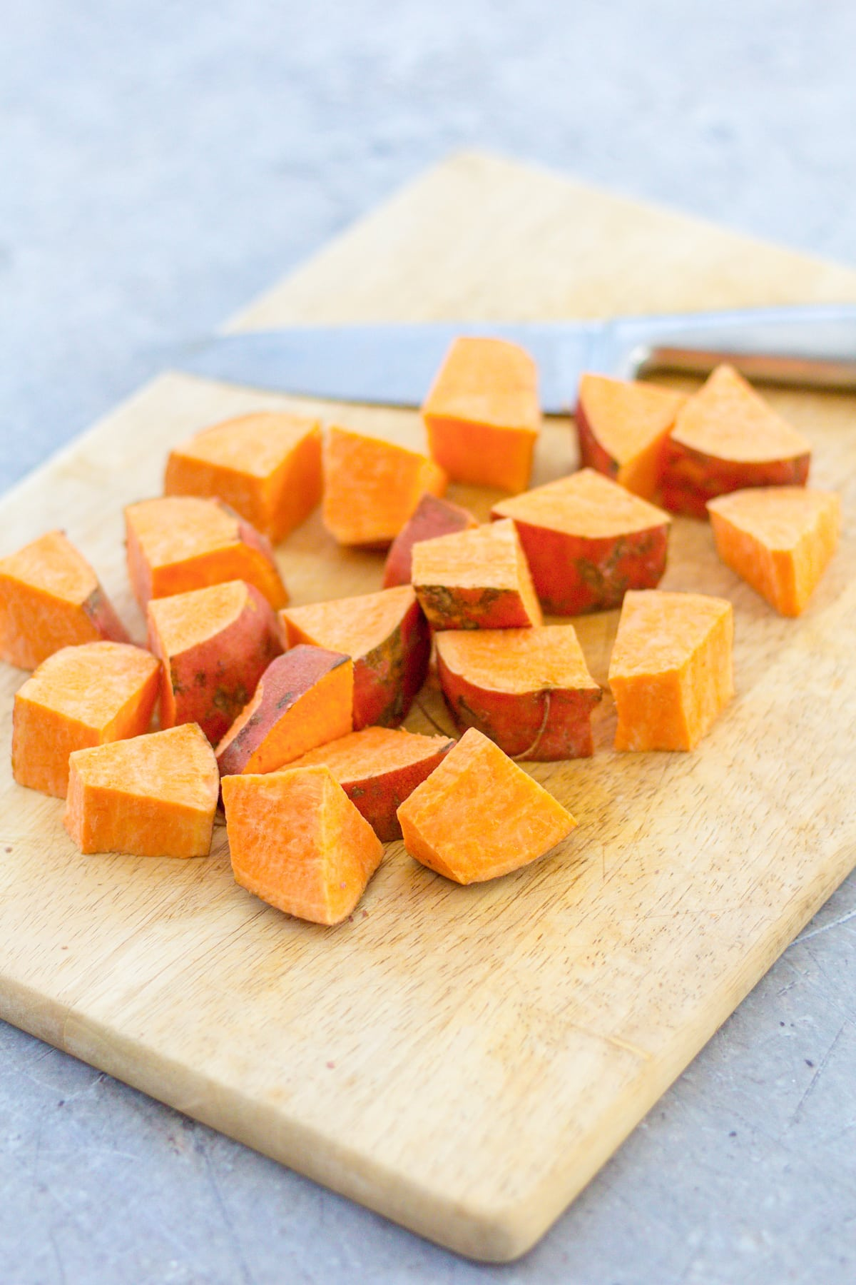 Mexican Style Roasted Sweet Potato Cubes