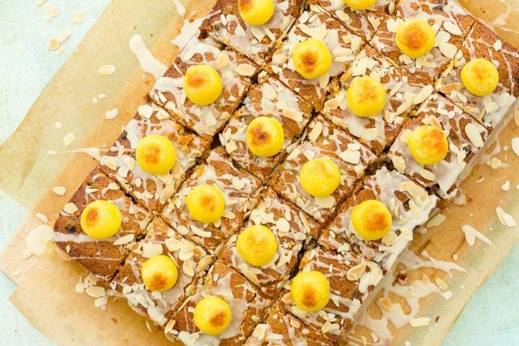 Easy Simnel Cake Traybake