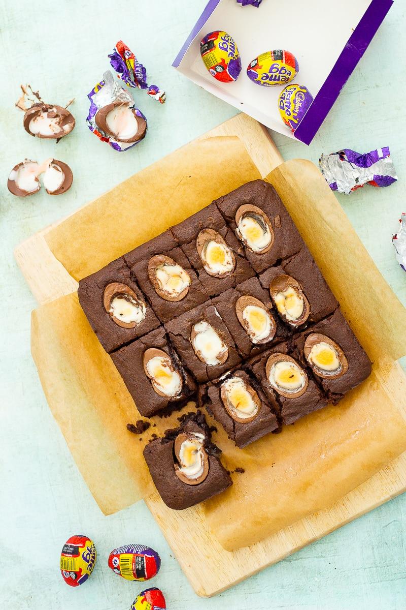 Easy Creme Egg Brownies