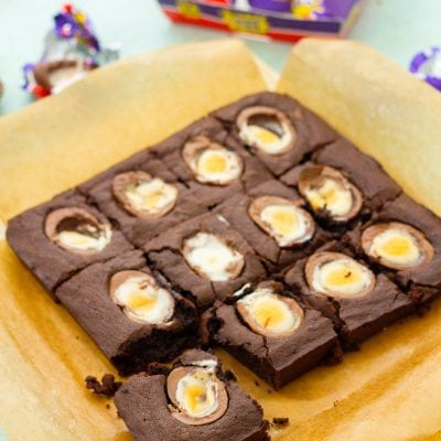 Easy Creme Egg Brownies