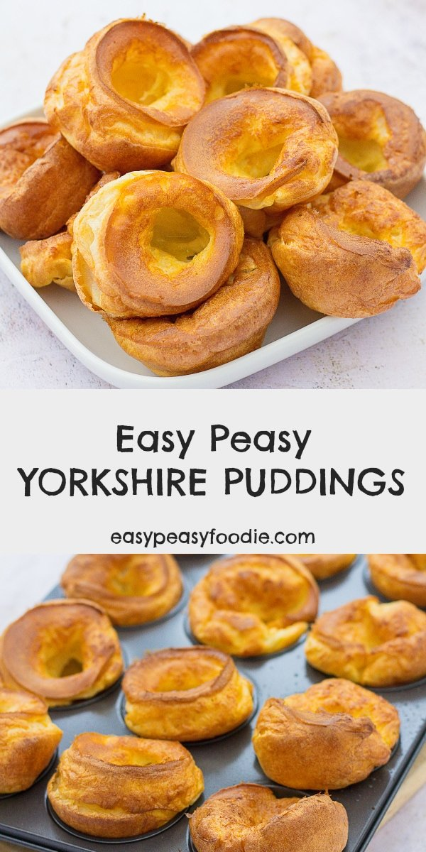 Easy Peasy Yorkshire Puddings - pinnable image with text for Pinterest