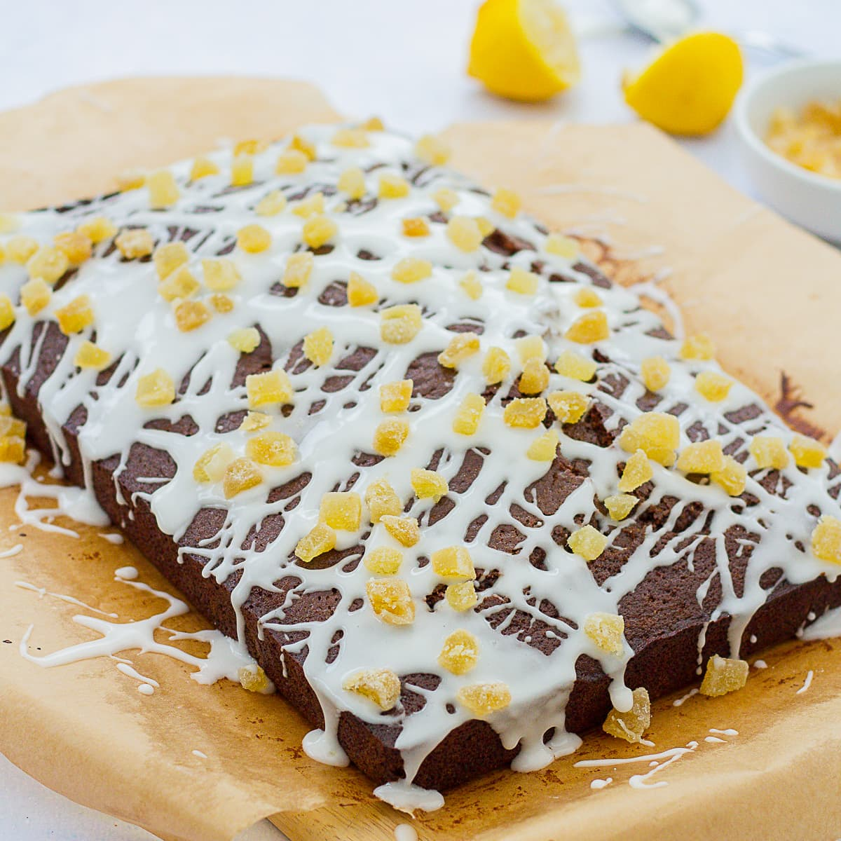 Easy Gingerbread Traybake Cake