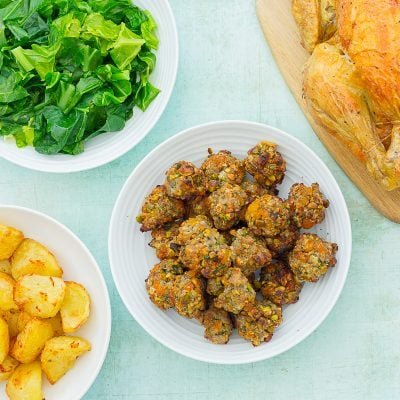 Easy Apricot and Pistachio Stuffing Balls