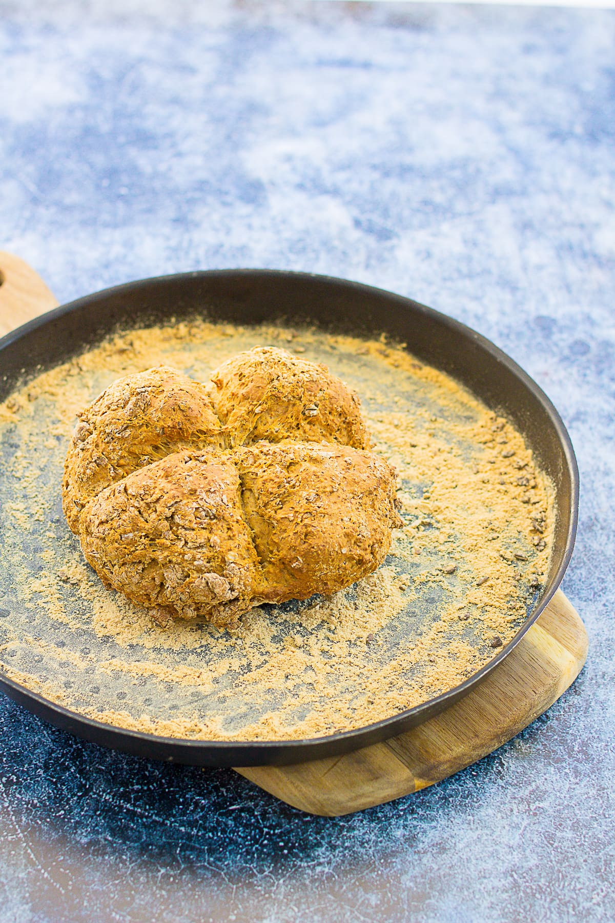 Easy Granary Soda Bread on a baking tray