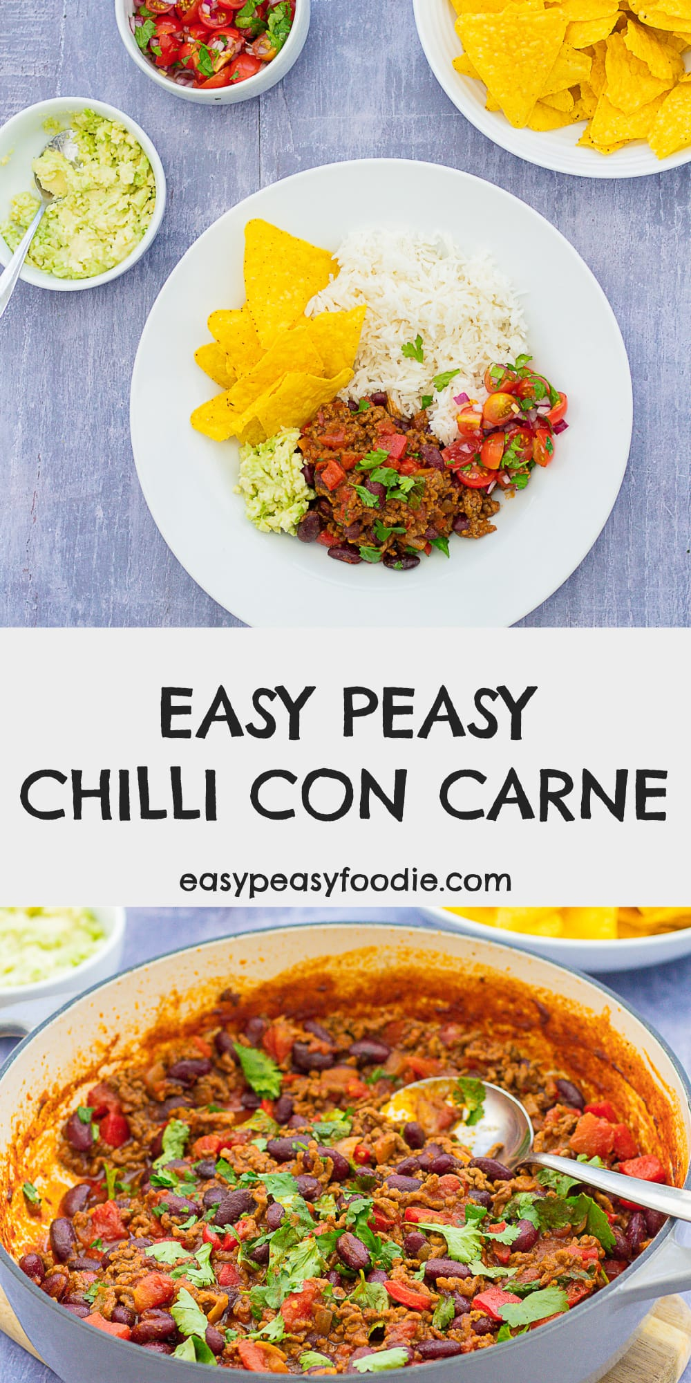Easy Peasy Chilli Con Carne - pinnable image for Pinterest