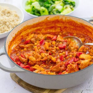 Easy Chicken, Chorizo and Chickpea Stew