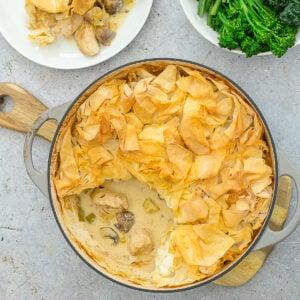 Easy Peasy Chicken, Mushroom and Leek Pie
