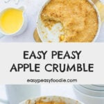 Easy Peasy Apple Crumble - Pinnable image for Pinterest