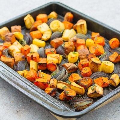 Easy Peasy Roasted Root Vegetables